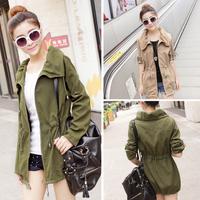 New 2015 Autumn Outwear blusas de frio feminino Winter Coat Women Slim Overcoat female Trench women Casual Coat For Women C4D536
