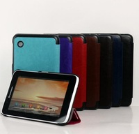 30PCS/Lot For Lenovo A3300 Luxury Case,Crazy Horse Folding Stand PU Cover For Lenovo A7-30