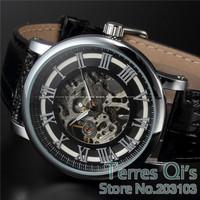 WINNER New Fashion Watch Men Skeleton Auto Mechanical Watches Wristwatch Free Ship Christmas Gift