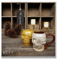 European Style Tiki Mug Bar Decoration Cerative Cup The Skeleton Cocktail Glass Ceramic Crafts Home Decoration