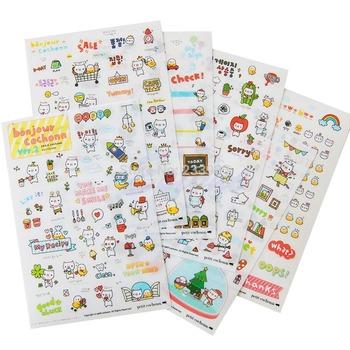 M65 Free Shipping 6 Sheet Pig Transparent Calendar Diary Book Sticker Scrapbook Decoration Lovely