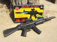 Hot Selling Black Electric Gun TD2017 Submachine Gun Vibration Sound Gun With Infrared Toy Gun