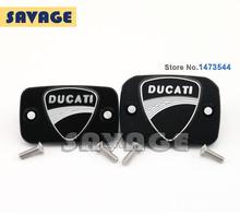 Мотоцикл аксессуары новинка 3D логотипом тормозные клатч бачка главного цилиндра крышка для Ducati 695 696 796 черный