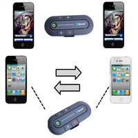 Handsfree Bluetooth Car Kit Speaker for iPhone 4s 5 5s 6 Hands Free Kit Aux Speakerphone
