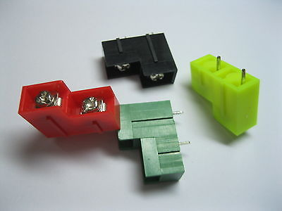 8 pcs Screw Terminal Block Connector 8.5mm 2 pin high-low 4 Color Barrier Type(China (Mainland))