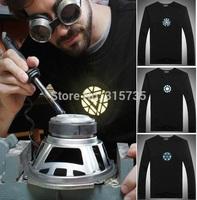 Hot Sale! (The Avengers) Iron Man Long sleeve LED T-Shirt EL T shirts XS-XXXL 7 Sizes 3 Designs for Party Using Led t-shirt