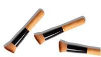 1pcs Oblique head brush High Quality Round super soft wooden brush makeup Universal Powder BB Cream Foundation brush XM050