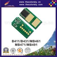 (TY-OB410) compatible toner laser printer reset chip for OKI MB 461 471 491 44574702 44574901 bk (3k/7k/4k pages) free Fedex