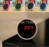 Portable LED Mirror Alarm Clock Beauty Makeup Compact Mirror with Multi-function Red LED Digital Calendar Alarm Clock