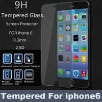 For iPhone6 Screen Protector Ultra Thin 0.4mm HD Clear Tempered Glass protective film for apple iphone 6