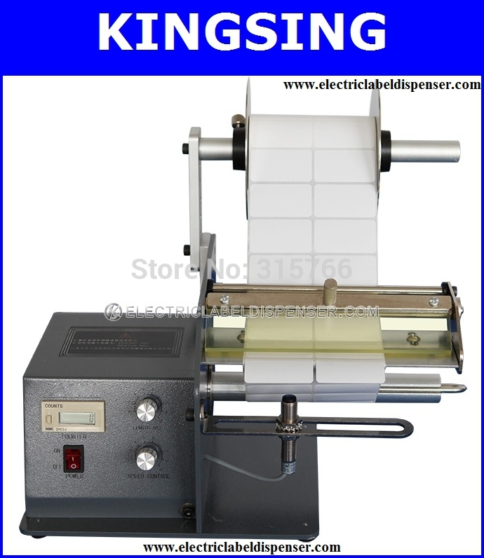 Ecnomical Label Dispensing Machine LD-180,Large Roll Capacity,Durable Construction +Free Shipping By DHL Air Express(China (Mainland))