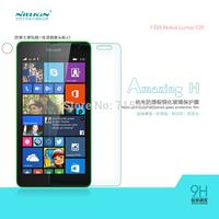 Free shipping 5pcs NILLKIN Amazing H Nanometer Anti-Explosion Glass Screen Protectors for Nokia Lumia 535