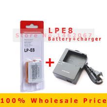 LP-E8 LP E8 Battery Pack and Charger for Canon EOS 550D, 600D, 650D, 700D and EOS Rebel T2i, T3i, T4i, T5i Digital SLR Camera