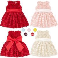 2015 spring summer hot sale baby girls princess rose floral vest dress girls summer party dresses 1103