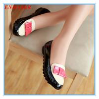 ENMAYER spring autumn skidproof soft bottom women flats fashion bowtie multi-color single shoes leisure red black women shoes