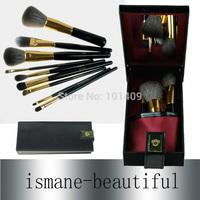 Brand Star Style 9 pcs Makeup Brush Set Black Handle High Quality Soft Goat Hair Brushes Set With Black Elegant Gift Box