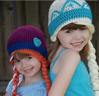 Hot sale Cute Cartoon Frozen Hat, Kintted Winter Hat, 10pcs/lot, Elsa and Anna Hat Beanie, Girls Frozen Winter Beanie Hot Sale