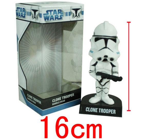 FUNKO POP Classic Anime Figure Star Wars Clone Trooper High Quality PVC Bobble-Head Doll A71(China (Mainland))
