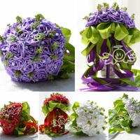 2015 Popular Pink Wedding Bridal Bouquet Wedding Decoration Cheap Wedding Accessories In Stock Buque De Noiva WF006