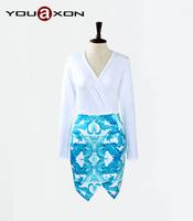 1773 YouAxon Vestidos Casual Autumn Winter Women Brand Long Sleeve Deep V Neck Floral Print irregular Dress Sexy Party a+ Dress