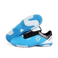 Size35-44 Black+Sky blue+Fluorescent green durable antislip men and women chuteira futsal zapatillas futbol shoes soccer