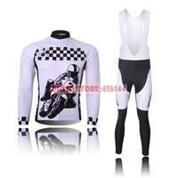 Ropa Ciclismo New Motorcycle Race Pattern Thermal Fleece Winter Cycling Clothing Set for Men 2015 Jersey Bike Jacket Bib Pants