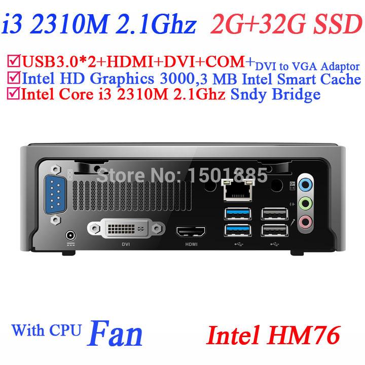 China cheap mini pc windows xp,thin client mini pc with Intel Core i3 2310M 2.1Ghz 2G RAM 32G SSD micro pc computer(China (Mainland))