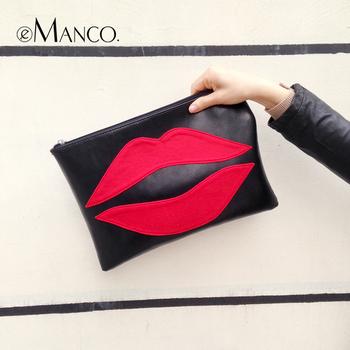 Новый стиль fahsion genuinue кожа рот тип женщины сумка почтальона сумочки emanco 2014 soild черный старинные молния сумки сумки BG01127