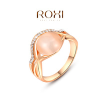 ROXI fashion jewelry Christmas Gift Austrian Crystals and Cats-Eys Stone Ring 100% Man-made