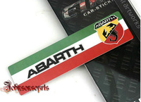 New arrive ABARTH  /  M Performance dimensional printing emblem  car sticker 100*26mm good quality