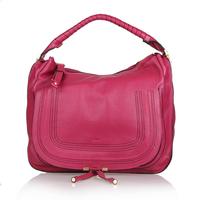 Top quality original brand marcie saddle genuine calf leather hot pink handbag shoulder bag fashion gift free shipping wholesale