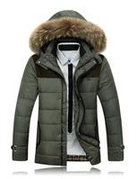 2014 Casual Dress Men Winter Jackets Down-Jacket White Duck Down Coat Cotton Coats Men Parkas Men  Face jacket vestidos Gift