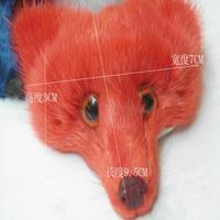 2015 DIY fashion accessories fashion accessories bags shoes clothes accessories real mink fur Fox head patch 9.5cmx7cm