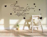 Twinkle Twinkle Little Star Wall Art Quote Sticker Decal Nursery Childrens Decor