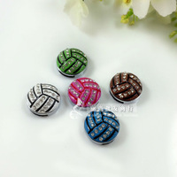 20pcs Slide Charm 8mm mix collor  volleyball slide accessory diy dogs and cats necklace charm free shipping
