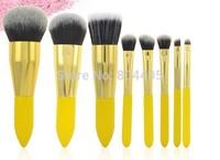 Lovely cute 8pcs makeup brush set , cosmetic brush set yellow color