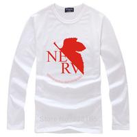 New fashion EVA Long Sleeve T-shirt COTTON Anime Cosplay Costume Casual Men Women Clothing Cotton Tops Tees