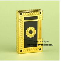 International Brand STDupont / Dupont lighters Lang sound - simple and stylish silver black carved gold