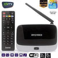 Q7 Android tv box Quad Core CS918 T-R42 K-R42  Android 4.2 RK3188 Cortex-A9 TV BOX 1080p RJ45 HDMI Player 2G/8G Antenna