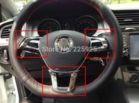 For VW Golf 7 MK7 2014+ ABS Chrome Steering Wheel Trim Cover