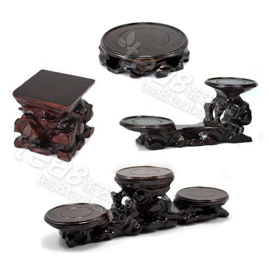 Wooden mat keep pot / tea tray / pot seat cupholders display / mat / cup holder circular double square Variety(China (Mainland))