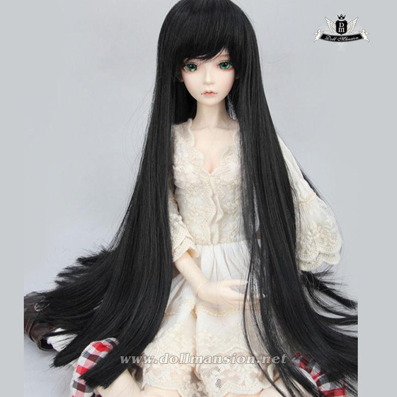 "9-10"" 1/3 BJD Wig or 70cm BJD Hair Dollfie Luts EID MID DOD Black long Wig #117(China (Mainland))"