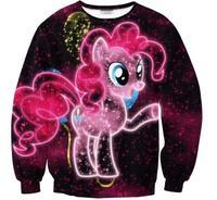 cartoon sweatshirt women 3d printed sweatshirt men rainbow pony cute casual galaxy clothes couples autumn winter clothes Y05506