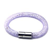 2015 New Fashion Mesh Handmade Wristband Stardust Crystal Rhinestone Charm Bracelets Bangles With Magnetic Clasp CN-JDB001-03-1