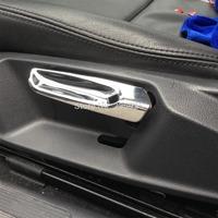 For VW Golf 7 MK7 2014+ ABS Chrome Inside Interior Seat Adjustment Handle Cover Trim