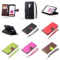 50pcs/lot Magnetic Leaf Design Vintage Card Slots PU Wallet Case Flip Cover for LG G3 leather case Stand