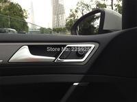 For VW Golf 7 MK7 2014+ ABS Chrome Inside Interior Door Handle Around Cover Trim