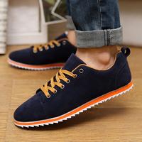 New 2015  Men Shoes Leather Shoes Men's Flats Shoes Low Men Sneakers for men Shoes