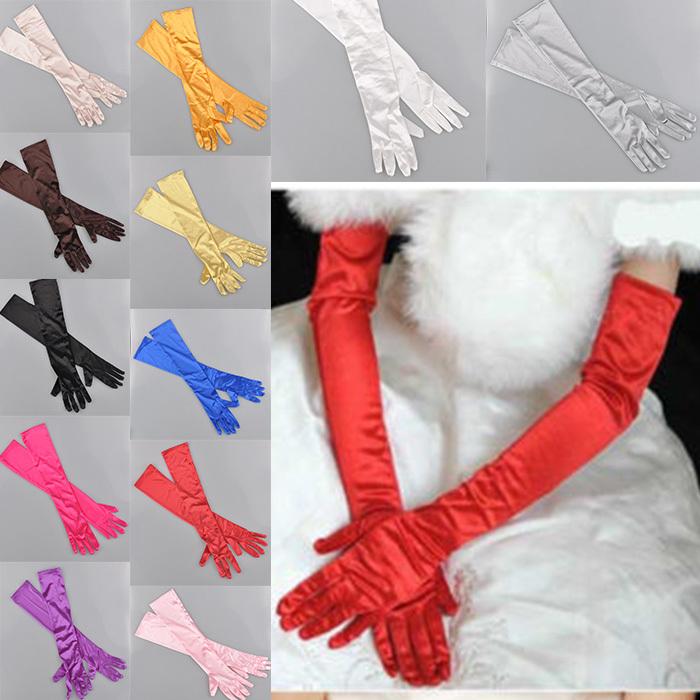 22'' Fashion Satin long gloves opera wedding Bridal Evening party costume GLOVES(China (Mainland))