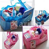 Free Shipping Wholesale  Fashion Mammy Bag, Baby Diaper Nappy Bottle Storage Organizer Multi Bag
